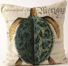 sea home decor history green sea turtle pillow