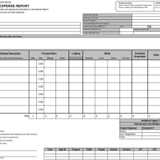 Detailed Expense Report Template by Free Expense Report Template Selimtd