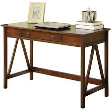 linon titian desk antique tobacco walmart com