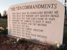 ten commandments list where in the bible does it talk about the