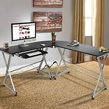 Corner Laptop Desk Best Choice Products Wood L Shape Corner Computer Desk