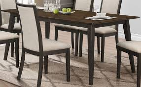 studio 26 antique oak and black dining table from new classic