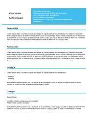 Cv Sjabloon Nederlands gratis cv generator kleurrijke cv sjablonen cv voorbeeld
