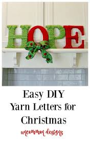 hope yarn letters uncommon designs