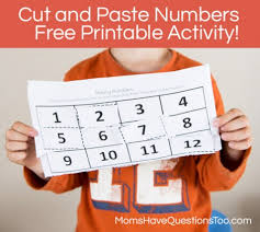 numbers cut and paste worksheet moms have questions too
