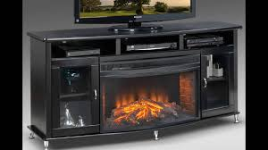 black tv stand with fireplace youtube