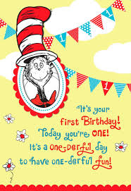 dr seuss 1st birthday dr seuss cat in the hat 1st birthday card with photo holder