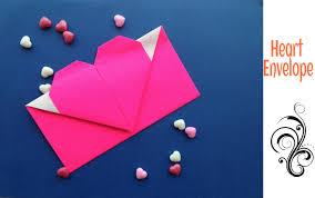 origami paper heart envelope tutorial origami handmade