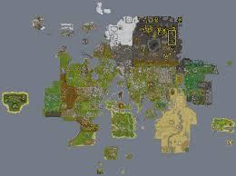 Oldschool Runescape World Map by Image Gallery Runescape Map