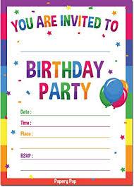 birthday invitations 30 birthday invitations with envelopes kids birthday