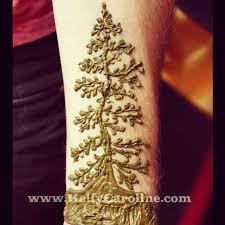 henna pine tree design henna hennaartist kellycaroline