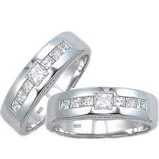 silver wedding rings images And hers matching sterling silver wedding couple rings set jpg