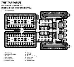 tartarus prison transport upper deck starships pinterest image spaceship designdeck plansspace