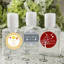 fall wedding ideas on a budget hand sanitizer favors free assembly