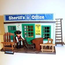 bureau playmobil bureau du shérif mundobil