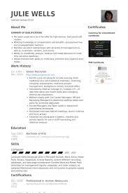top senior recruiter resume samples with staffing recruiter resume
