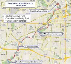 Ft Worth Map Fort Worth Marathon World U0027s Marathons
