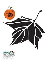 maple leaf pumpkin carving pattern woo jr kids activities