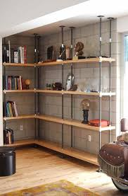 Wood Shelf Support Designs by 25 Best Basement Shelving Ideas On Pinterest Basement Storage