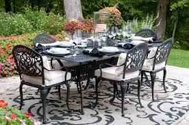 garden patio dinner party setting clean scapes