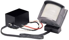 heath zenith sl 5210 gr b 110 degree wire in motion sensing light fixture adapter gray ca patio lawn garden