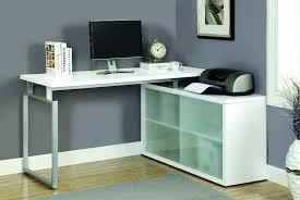 Techni Mobili L Shaped Glass Computer Desk With Chrome Frame L Shaped Glass Desk Office Shaped Computer Desk Small Computer