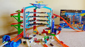 How Big Is A 3 Car Garage wheels ultimate garage playset with attack shark spiral ramp
