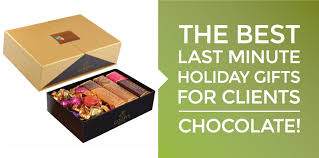 gifts for clients best last minute gifts for clients chocolate