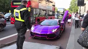lamborghini dark purple glow in the dark arab aventador seized by police youtube