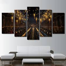 harry potter home decor modern wall art print 5 pieces home decor for living room harry