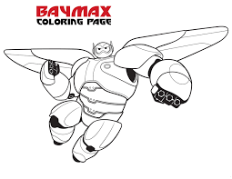 big hero 6 coloring page baymax kids coloring pages