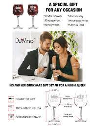 wine sler gift set king and wine glass gift set 12 75 oz ea