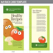 4x9 rack card brochure template stock vector image 8937046