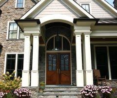 charleston front porch columns exterior farmhouse with steps