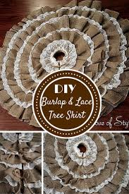 burlap tree skirt diy no sew burlap and lace christmas tree skirt my of style