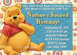 Birthday Invitation Cards Printable Winnie The Pooh Birthday Invitations U2013 Gangcraft Net