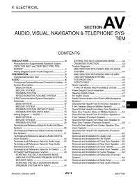 2005 nissan titan audio visual system section av pdf manual