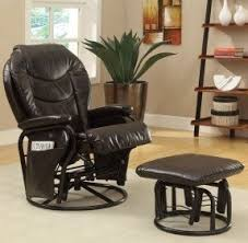 Glider Chair With Ottoman Leather Glider Rocker Recliner Foter