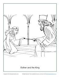 esther king coloring children u0027s bible activities
