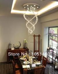 Dining Room Chandeliers Contemporary Ella Fashion Modern Led Spiral Sphere Rain Drop K9 Crystal