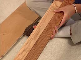 Laminate Floor Edging Trim How To Install A Floating Wood Plank Floor How Tos Diy
