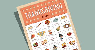 magnificent thanksgiving bingo template pictures inspiration