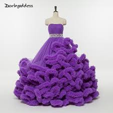 purple wedding dress aliexpress buy luxury purple wedding dresses cloud strapless