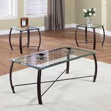glass end table set steve silver orion oval chrome and glass coffee table set hayneedle