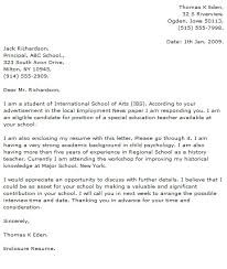 cover letter for teaching jobs sample cover letter for teaching
