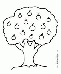 apple tree outline clip art 25