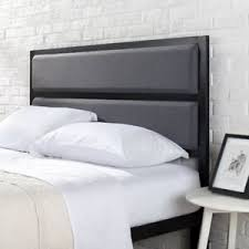 full size metal headboard upholstered panel industrial style