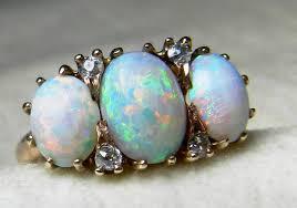 opal ring 2 25 ct opal engagement ring australian blue opal ring