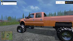 ford lifted f350 ford diesel lifted orange fs 15 farming simulator 2017
