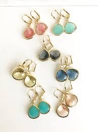 choose color simple drop earrings in gold choose color dangle earrings